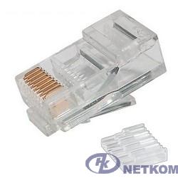 Коннектор UTP RJ45 под однож. кабель (с вставкой), Кат.5 (100шт.) [P88RB03V2I]