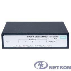 HP JH327A Коммутатор HPE 1420 неуправляемый 19U 5x10/100/1000BASE-T