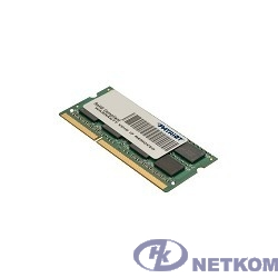 Patriot DDR3 SODIMM 4GB PSD34G160081S (PC3-12800, 1600MHz, 1.5V)
