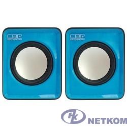 CBR CMS 90 Blue, Акустическая система 2.0, питание USB, 2х3 Вт (6 Вт RMS), материал корпуса пластик, 3.5 мм линейный стереовход, регул. громк., длина кабеля 1 м, цвет голубой