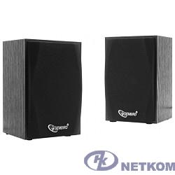 Акустич. система 2.0 Gembird SPK-201 {МДФ, черный ,2х2,5 Вт,USB-питание}