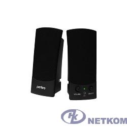 """Perfeo колонки """"UNO"""" 2.0, мощность 2х0,5 Вт (RMS), чёрн, USB  (PF-210)"""