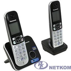 Panasonic KX-TG6812RUB Радиотелефон черный (2 трубки с ЖК диспл., DECT)