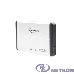 "Gembird EE2-U3S-2-S Внешний корпус 2.5"" Gembird EE2-U3S-2-S, серебро, USB 3.0, SATA, металл"
