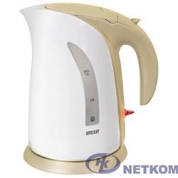MYSTERY MEK-1639 Чайник, Мощность: 1800 Вт, Объём: 1,8 л, Цвет: Белый/Бежевый