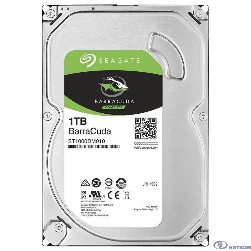 1TB Seagate BarraCuda (ST1000DM010) {Serial ATA III, 7200 rpm, 64mb buffer}