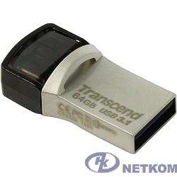 Transcend USB Drive 64Gb JetFlash 890 TS64GJF890S {USB 3.0/3.1 + Type-C}
