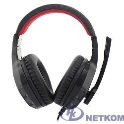 Oklick HS-L320G черный/красный{1.9м мониторы оголовье (NO-3000)} [359482]