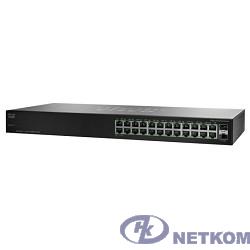 Cisco SB SG110-24HP-EU коммутатор (switch) возможность установки в стойку 2 слота для дополнительных интерфейсов 24 порта Ethernet 10/100/1000 Мбит/сек 440 x 44 x 202 мм