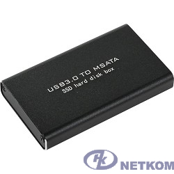 ORIENT 3501U3 Внешний контейнер, USB 3.0 для SSD mSATA 6Gb/s (ASM1153E), алюминий, черный цвет