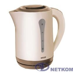 MYSTERY MEK-1638 Чайник, Мощность: 1800 Вт, Объём: 2,5 л, Цвет: Бежевый/Коричневый