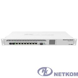 MikroTik CCR1009-7G-1C-1S+ Маршрутизатор (9-cores, 1.2Ghz per core), 2GB RAM, 7xGbit LAN, 1x Combo port (1xGbit LAN or SFP), 1x SFP+ cage, RouterOS L6, 1U rackmount case, Dual PSU, LCD pa