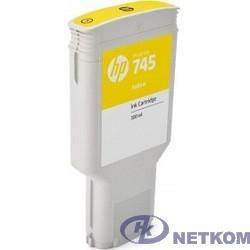 HP F9K02A Картридж №745, Yellow {HP Designjet (300ml)}