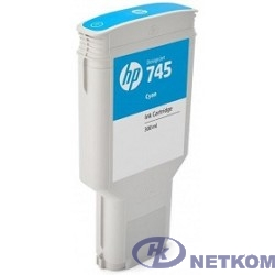 HP F9K03A Картридж №745, Cyan {Designjet, (300ml)}