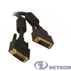 TV-COM Кабель DVI-D Dual link 25M/25M, экран, феррит.кольца, 5м  (CG441D-5M) [6926123462607]