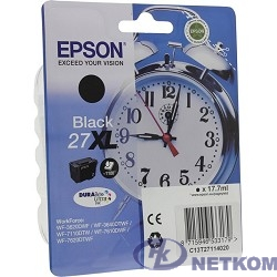 EPSON C13T27114020/4022 Singlepack Black 27XL DURABrite Ultra Ink for WF7110/7610/7620, 1100 стр,  (cons ink)