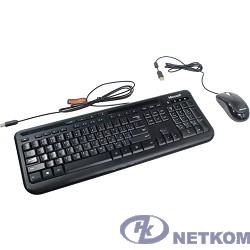Microsoft Клавиатура + мышь Wired Desktop 600 Black USB, Черный (3J2-00015)