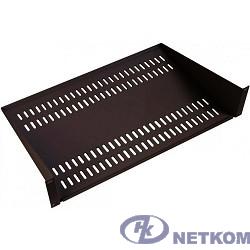 ЦМО Полка перфорированная консольная 2U, глубина 300 мм,цвет черный (МС-30-9005)