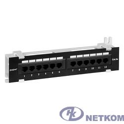Exegate EX256754RUS Патч-панель UTP настенная 12 port кат.5e, Exegate,  разъём KRONE&110 (dual IDC)