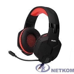 SVEN AP-G988MV черно-красный {с полноразмерными наушниками закрытого типа, встроенный регулятор громкости, подключение: 2 x mini jack 3.5 mm, частота воспроизведения 20-20000 Гц}