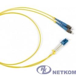 Hyperline FC-S2-9-FC/UR-SC/UR-H-1M-LSZH-YL Патч-корд волоконно-оптический (шнур) SM 9/125 (OS2), FC/UPC-SC/UPC, simplex, LSZH, 1 м