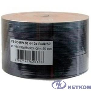 Диски VS CD-RW 80 4-12x Bulk/50