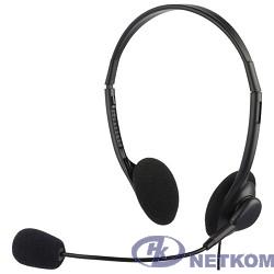 Oklick HS-M143VB черный 1.8м накладные оголовье [614036]