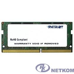 Patriot DDR4 SODIMM 4GB PSD44G213381S PC4-17000, 2133MHz