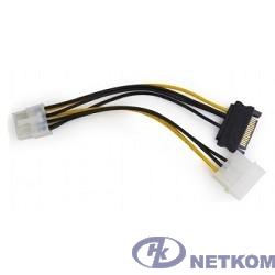 Cablexpert Разветвитель питания Molex+SATA->PCI-Express 8pin, для подключения в/к PCI-Е (8pin) к б/п ATX (CC-PSU-82)