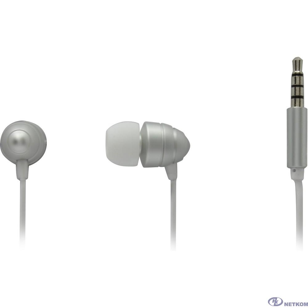 Гарнитура ES-F55 SILVER Dialog с кнопкой ответа для мобильных устройств, серебристая, металл