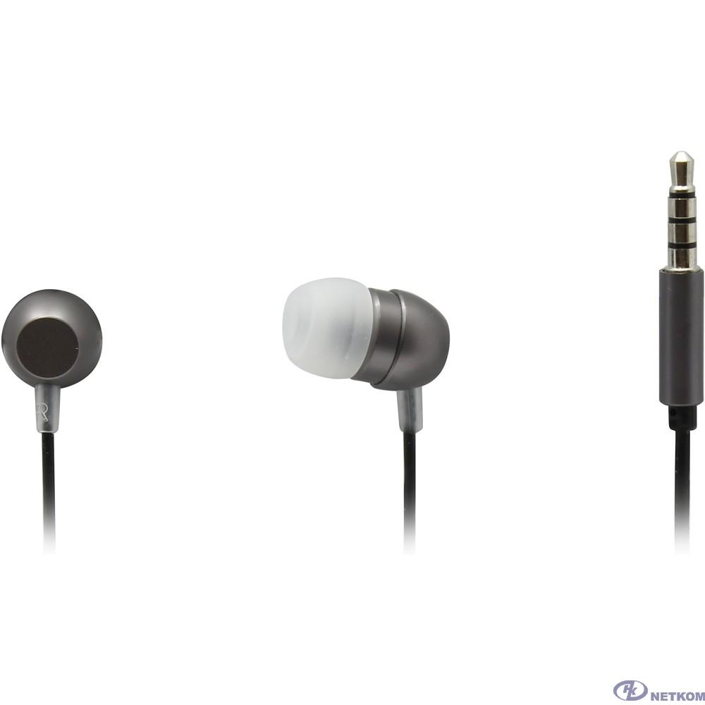 Гарнитура ES-F57 GREY Dialog с кнопкой ответа для мобильных устройств, серая, металл