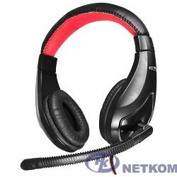 Oklick HS-L100 черный/красный 2м мониторы оголовье  359485