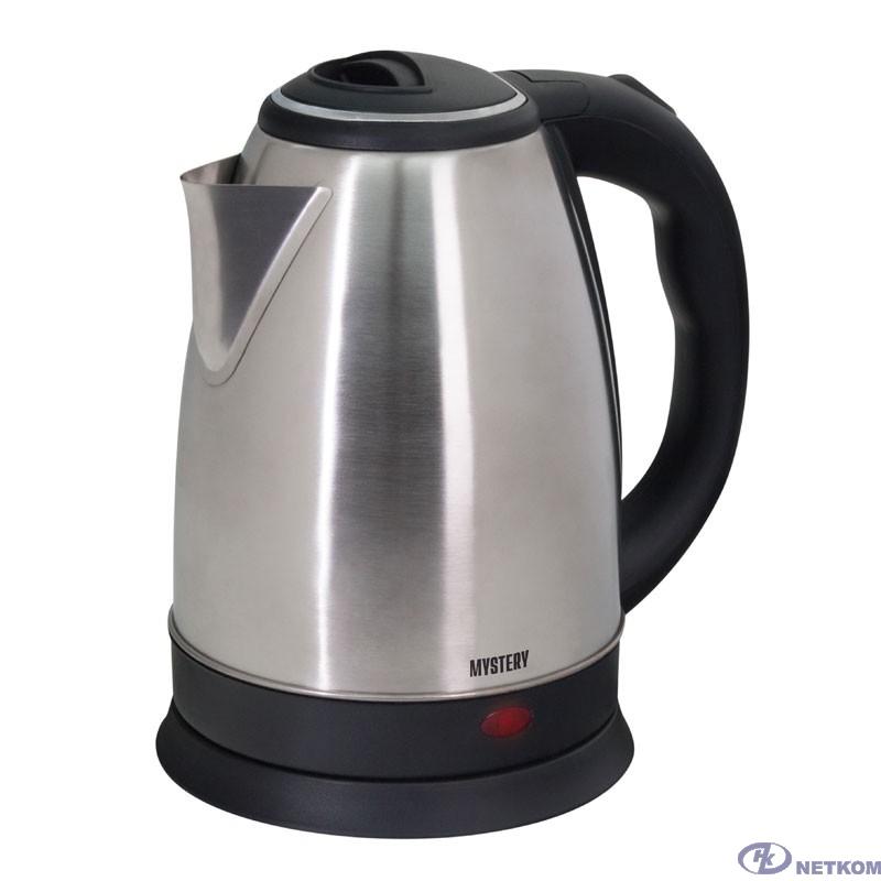 MYSTERY MEK-1601 Чайник, Мощность 1800 Вт, Объём: 1.7 л., Металлический корпус, Цвет: Чёрный.