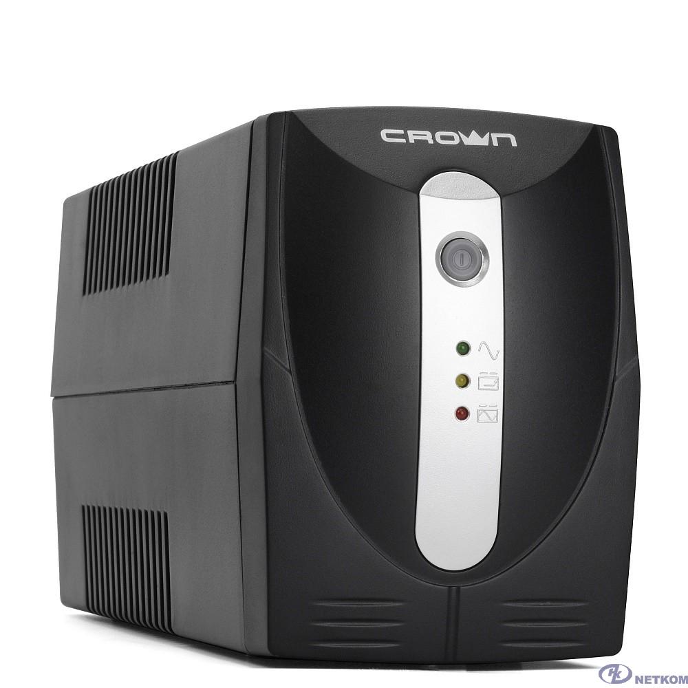 CROWN ИБП CMU-500XIEC {480 ВА / 240 Вт; Off-Line;  3 х IEC-320 , 12V/4,5AH х 1; пластик}