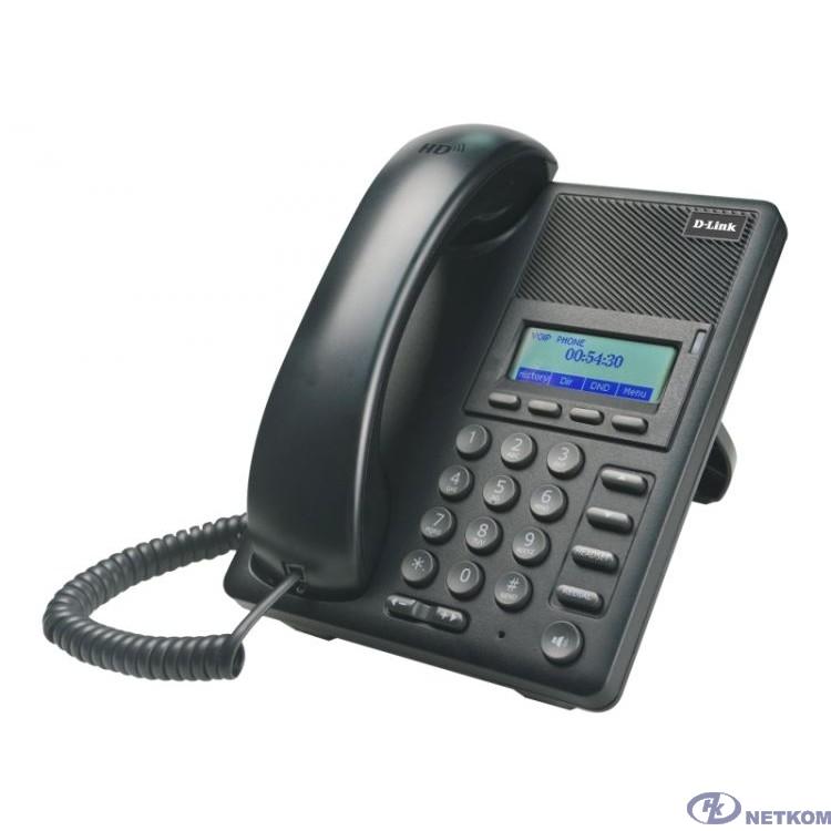 D-Link DPH-120S/F1B IP-телефон с 1 WAN-портом 10/100Base-TX, 1 LAN-портом 10/100Base-TX (от DPH-120S/F1A отличается дизайном коробки)