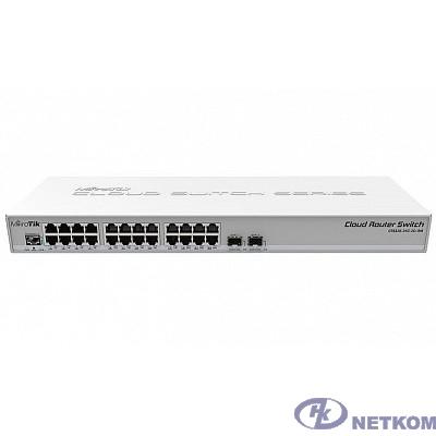 MikroTik CRS326-24G-2S+RM Коммутатор Cloud Router Switch 326-24G-2S+RM with RouterOS L5, 1U rackmount enclosure
