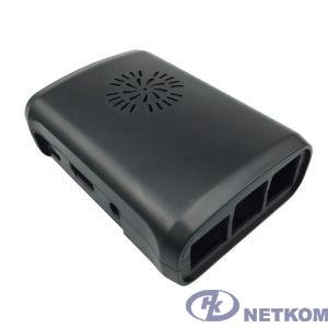 Raspberry Корпус с вентилятором и радиаторами для Raspberry Pi 3 model B / Raspberry Pi 2 model B / Raspberry Pi model B+ (овальный, цвет черный) (42459)