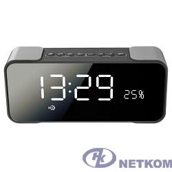 Ginzzu GM-884B, BT-Колонка 2x5w/LCD/TF/AUX/FM/часы/2 будильника