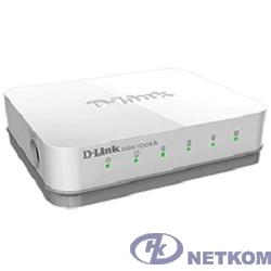 D-Link DGS-1005A/E1A Неуправляемый коммутатор с 5 портами 10/100/1000Base-T, функцией энергосбережения и поддержкой QoS