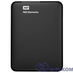"""WD Portable HDD 1Tb Elements Portable WDBUZG0010BBK-WESN {USB3.0, 2.5"""", black}"""