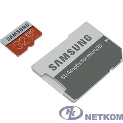 Micro SecureDigital 32Gb Samsung EVO Plus V2 Class 10 MB-MC32GA/RU {MicroSDXC Class 10 UHS-I U1, SD adapter}