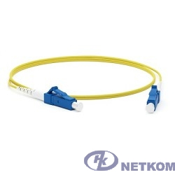 Hyperline FC-S2-9-LC/UR-LC/UR-H-1M-LSZH-YL Патч-корд волоконно-оптический (шнур) SM 9/125 (OS2), LC/UPC-LC/UPC, 2.0 мм, simplex, LSZH, 1 м
