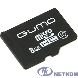 Micro SecureDigital 8Gb QUMO QM8GMICSDHC10NA {MicroSDHC Class 10}