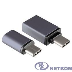 Ginzzu Переходник USB3.1 Type-C/microUSB  + USB3.1 Type-C/USB 3.0, черный (GC-885B)