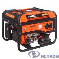 Генератор бензиновый PATRIOT Max Power SRGE 3500E [474103150] { Двигатель: 4т, OHV, АИ-92, 210 сс, 7 л.с; Напряжение: 1ф, 220В, 50Гц, AVR; Мощность ном/макс: 2.5/2.8 кВт}