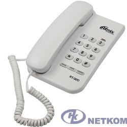 RITMIX RT-320 white проводной телефон {повторный набор номера, настенная установка, регулятор громкости звонка}