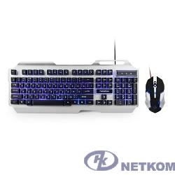 """Гарнизон Комплект клавиатура + мышь игровой GKS-510G черный/серый, металл, подсветка,код """"Survarium"""", 2000"""