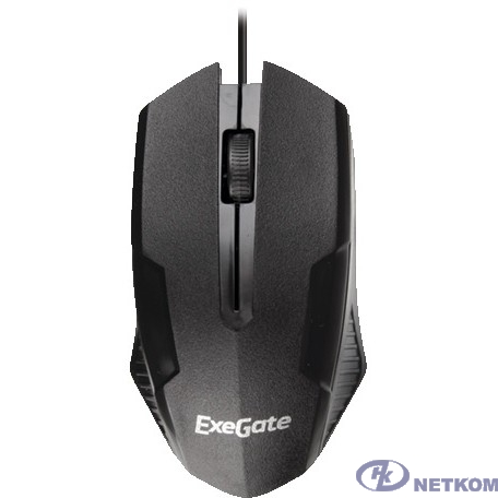 Exegate EX264096RUS Мышь Exegate SH-9025  <black, optical,  3btn/scroll, 1000dpi, USB>, Color box