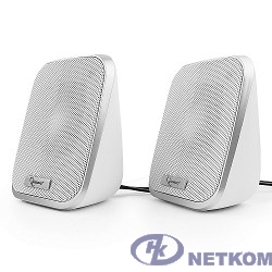 Акустич. система 2.0 Gembird SPK-100-W, белый, 6 Вт, регулятор громкости, USB-питание