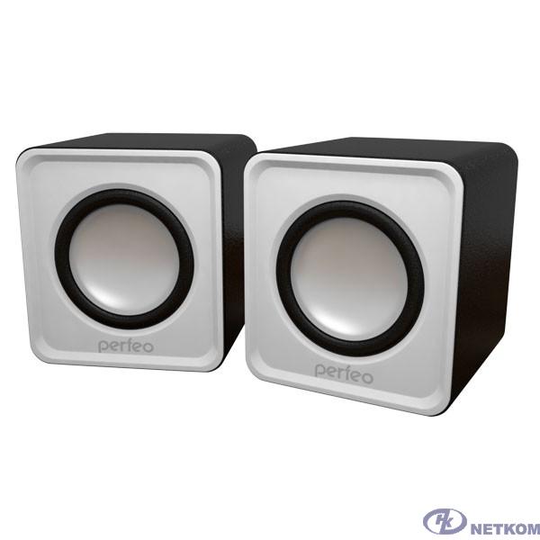 """Perfeo колонки """"WAVE"""" 2.0, мощность 2х3Вт (RMS), белый, USB [PF-128-W] PF_5129"""